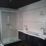 exemple plafond tendu dans une salle de bain
