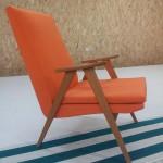 exemple d'une réfection de fauteuil année 50