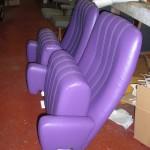 exemple d'une réfection de fauteuils de cinéma